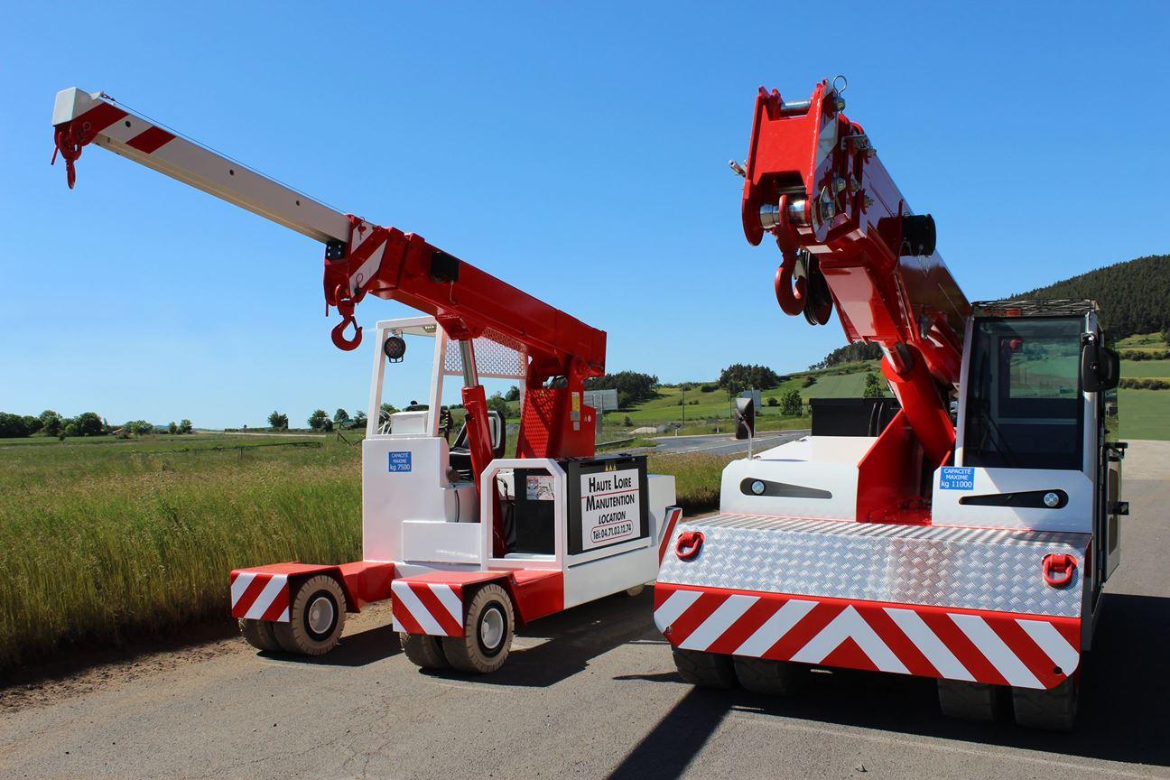 , 2 nouvelles grues électriques pour Haute-Loire Manutention