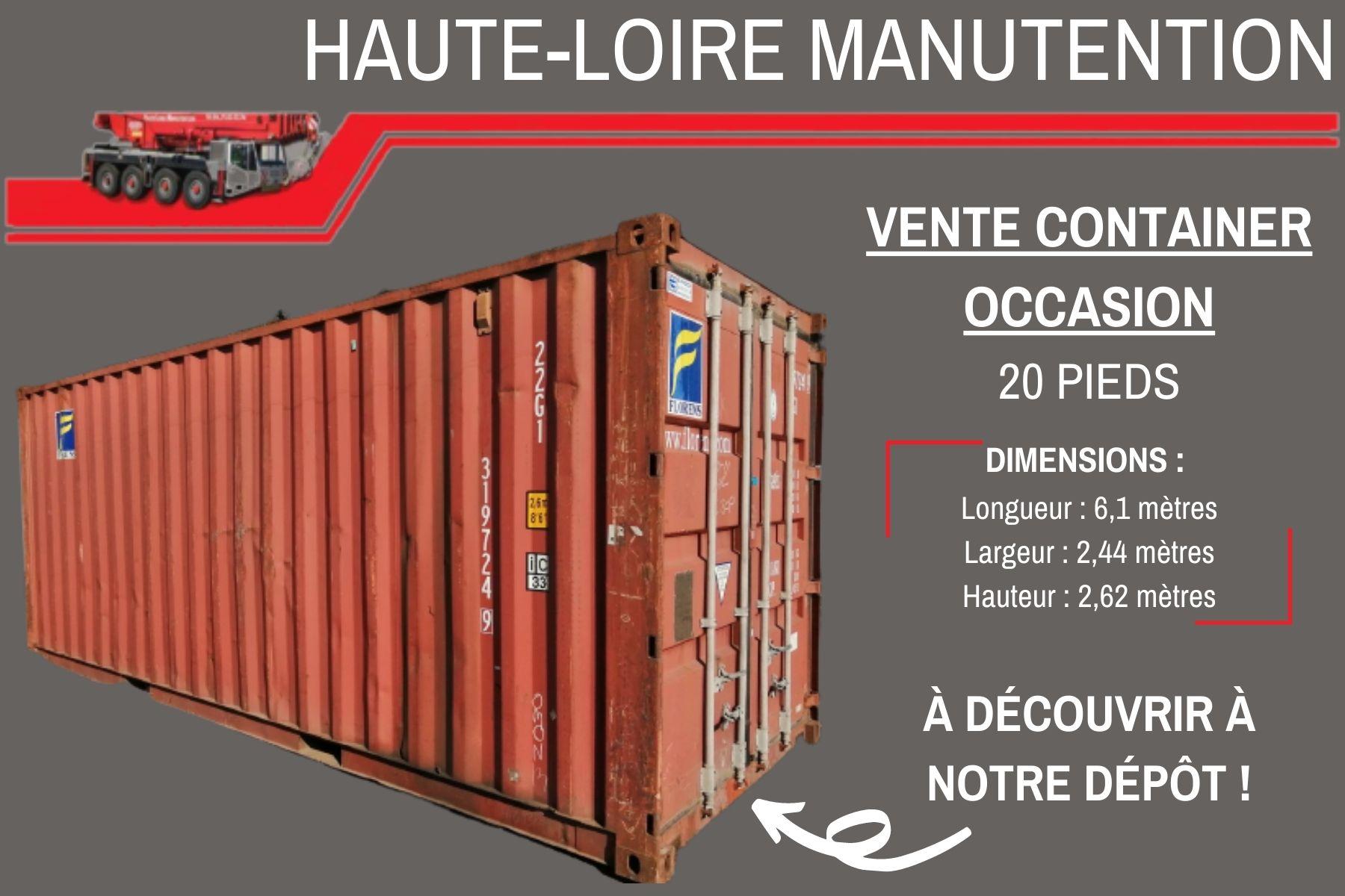Vente ou location de containers de stockage !