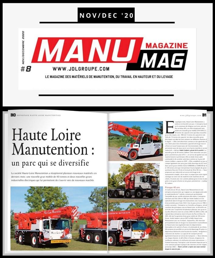 Le magazine Manumag nous consacre un article
